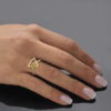 Eos Gold triangular ring