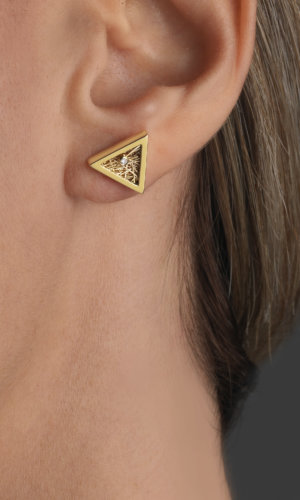 Women's Jewellery Demeter Triangular Gold Earrings