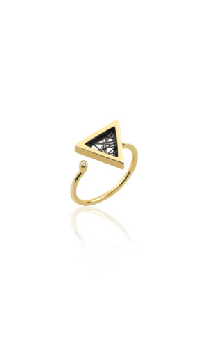 Hera Gold Triangular Ring