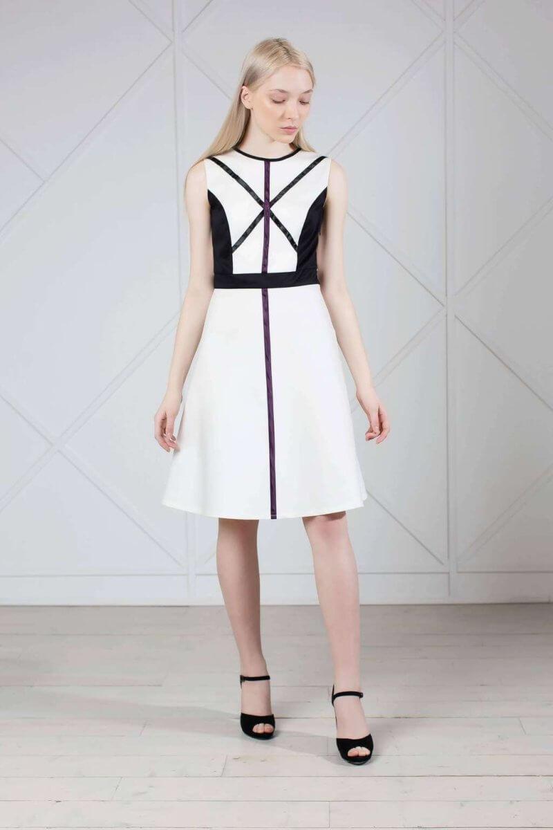 White graphic cotton dress