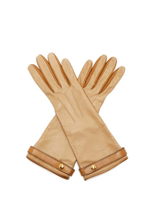 Designer gift for her Burberry | Bi-colour leather gloves
