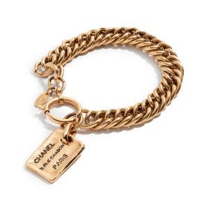 designer gift for her gold chanel bracelet