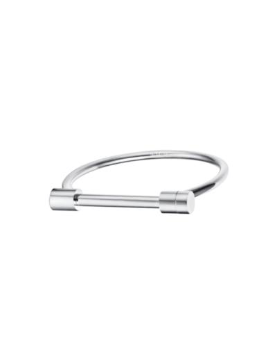 Silver D Cuff Bracelet