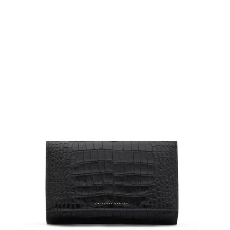 emilee Giuseppe Zanotti black clutchbag