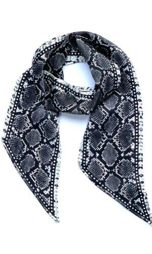 Snakeskin Silk Neck Scarf Grey