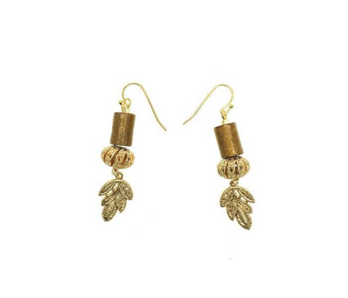 Designer Farra Earrings Gold
