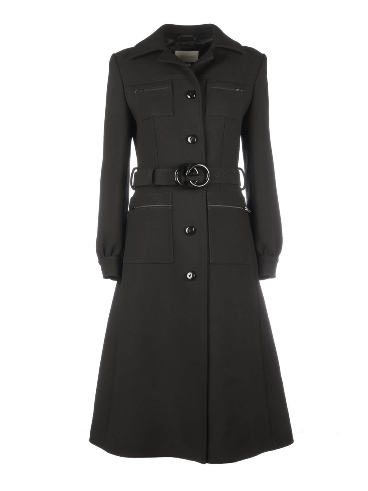 Designer Gucci Womens Black Coat