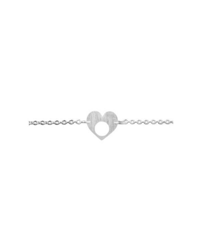 Designer gift for her Silver Heart Bracelet