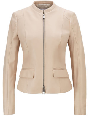 Hugo Boss | Beige Leather Outwear Jacket | £504.00