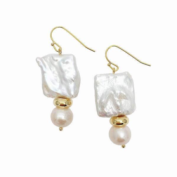 Designer Farra Pearl Earrings