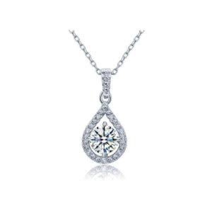 Designer gift for her Silver Diamond pendant