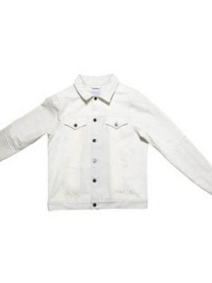 Designer white denim jacket