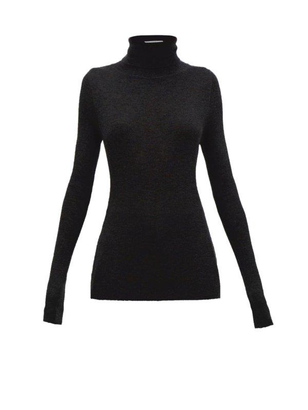 RAEY Roll-neck fine-rib cashmere sweater