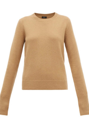 JOSEPH Ribbed-edge cashmere sweater