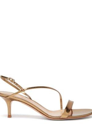 GIANVITO ROSSI Manhattan 55 metallic leather sandals