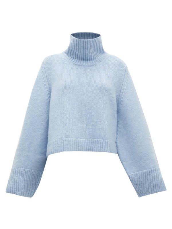 KHAITE Marion split-cuff cashmere sweater
