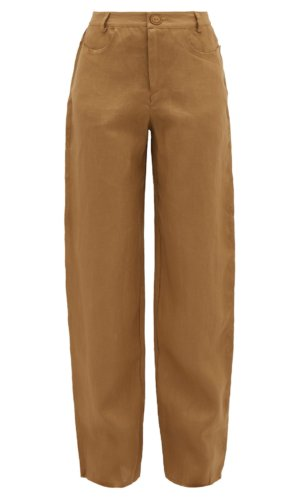 ALBUS LUMEN Raw-edge linen trousers