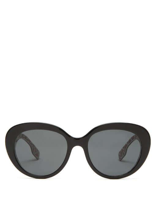 BURBERRY TB monogram-print round acetate sunglasses