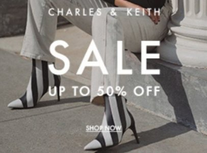 Charles and Keith Sale Banner