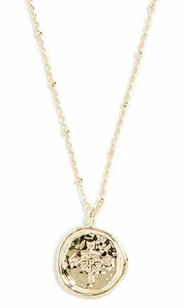 gorjana gold compass coin necklace