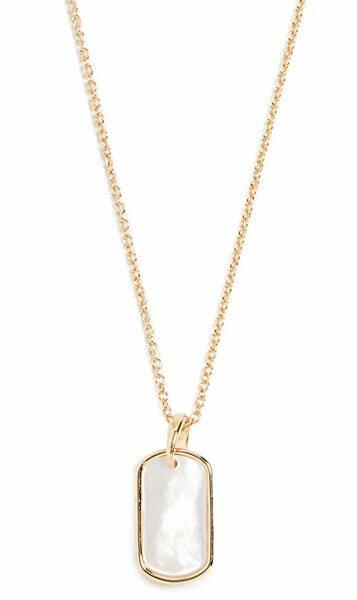 Gorjana Griffin Gem Dog Tag Necklace