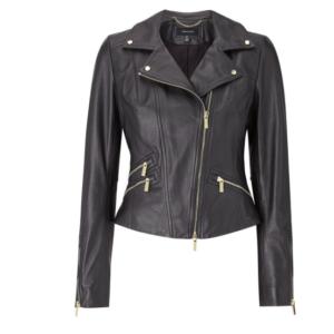 Karen Millen leather bike jacket