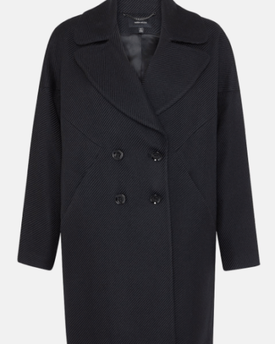 Karen Miller Black twilled coat