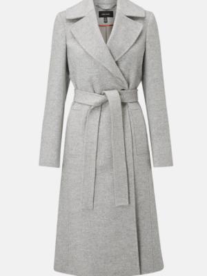 Karen Miller Long wrap coat grey