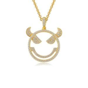 Avilio London Emoji Evil Monster Silver Necklace