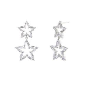 Avilio London silver star stud earrings