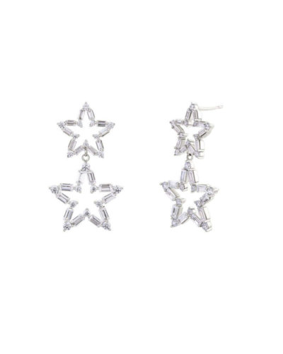 Avilio London silver star stud earrings