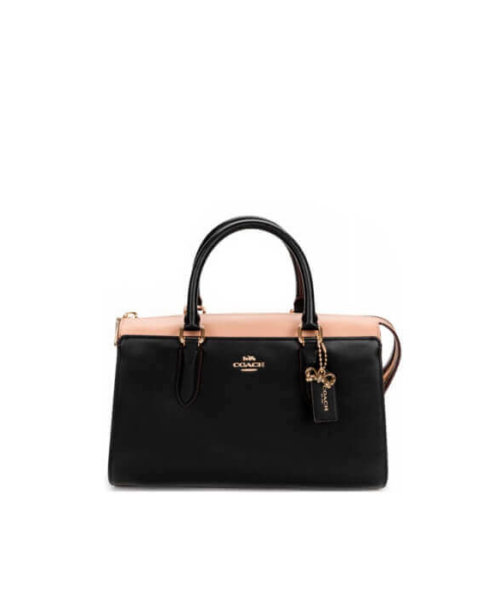 Coach Pink and black hand bag