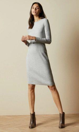 GJESSI Long sleeved ribbed knitted midi dress £129