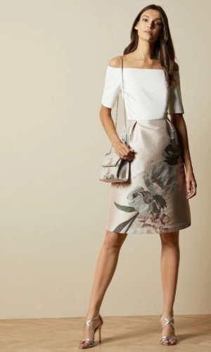 CATHIEY Woodland off the shoulder dress £239