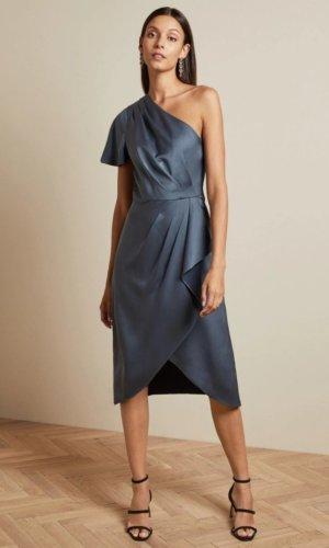 RIDAH Waterfall skirt one shoulder dress £199 £79