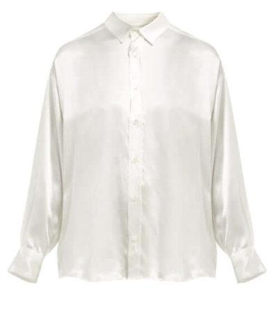 Katharine Hamnett white silk shirt