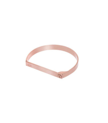 Opes Robur Rose Gold Screw On Love Bracelet