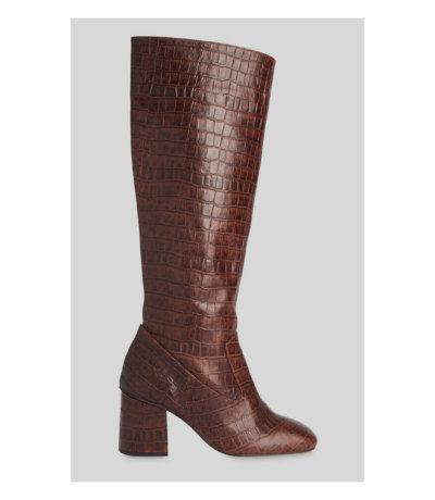 Whistle Hazel Croc Knee High Boot