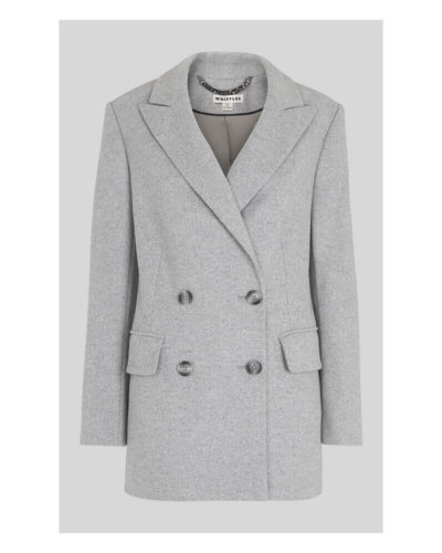 Whistles Oversized wool grey blazer
