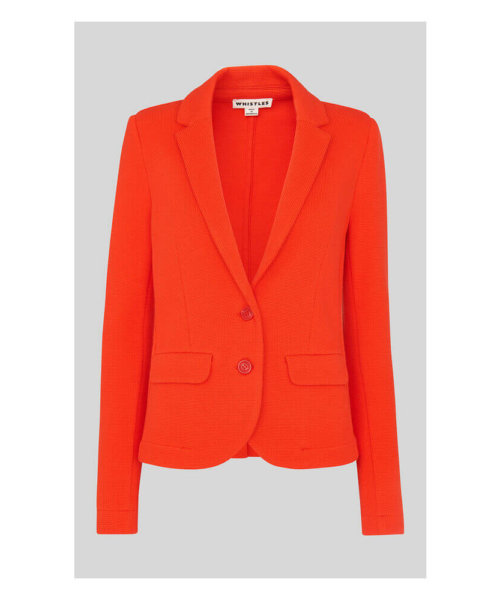 Whistles red slim jersey jacket
