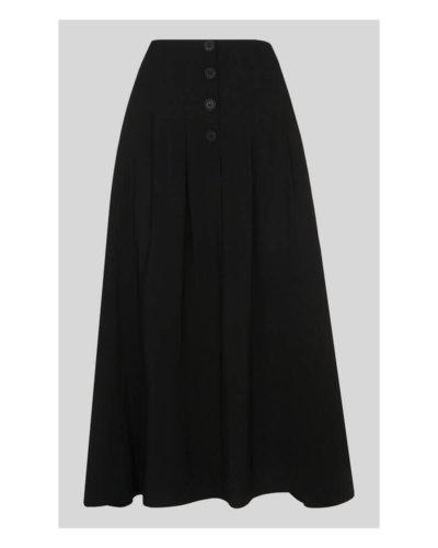 Whistles Tian Button Black Skirt