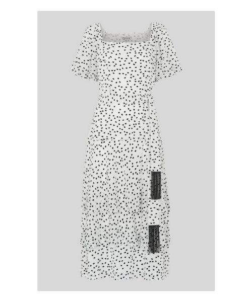Whistles Vila black and white dress