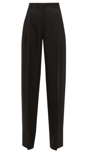JACQUEMUS Loya high-rise pleated hopsack trousers