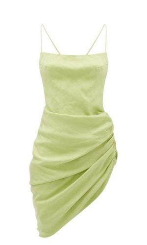 Jacquemus - Saudade Gathered-side Canvas Mini Dress