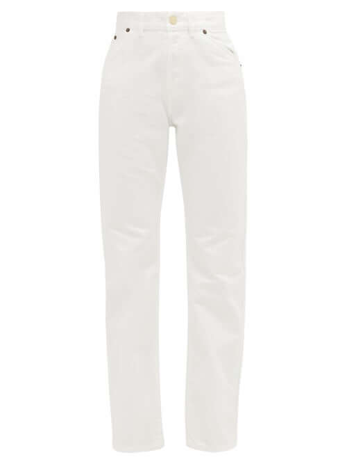 JACQUEMUS High-rise straight-leg jeans