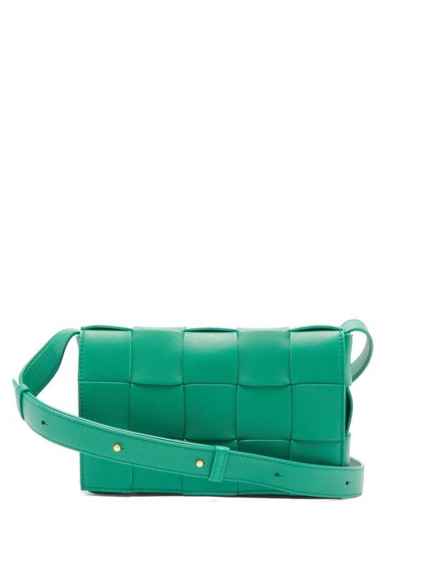 Bottega Veneta - Cassette Small Intrecciato-Leather Bag