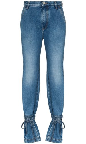 New Season LOEWE high-waisted ankle tie jeans