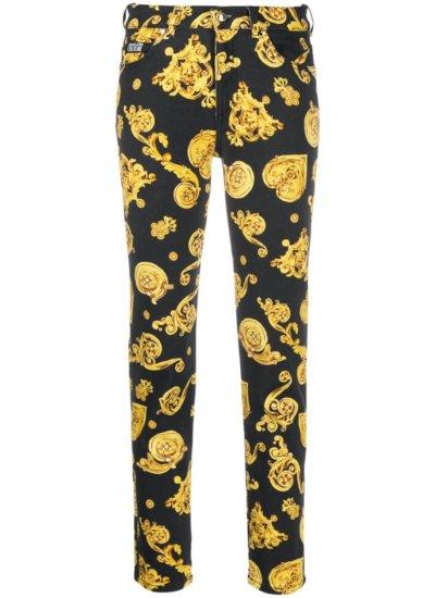 VERSACE JEANS COUTURE baroque-print slim-fit jeans £247