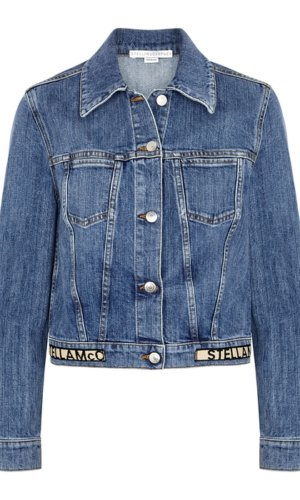 Stella McCartney blue stretch-denim jacket