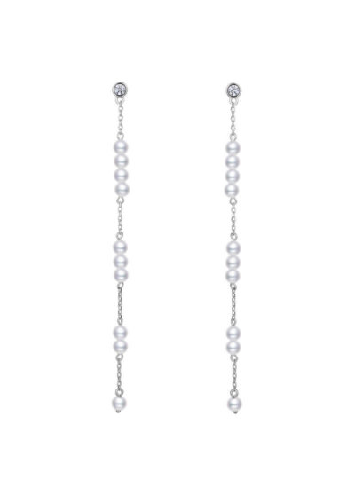 Avilio London 925 Sterling Silver Pearl Drop Stream Earrings valentines day